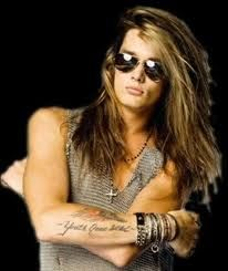 Who had better rock hair than Sebastian Bach? Who looked like a Viking God and could sing like the rock god he was? Mirrored aviators always good. Necklaces awesome. I am always a fan of chain mail.