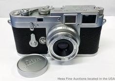 Leica M3 707635 Double Stroke Camera Body W/ Summaron 3.5cm Lens Leitz DBP #Leica
