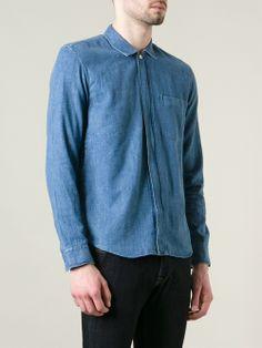 Men - Our Legacy Zip Fastening Denim Shirt - WOK STORE
