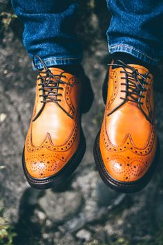 When our Robinson footwear brand launched in the Andrew Jackson brogue in whiskey calf was the first shoe in the collection. Now also available in oxblood or olive green grain. New Shoes, Men's Shoes, Dress Shoes, Battle Of New Orleans, Andrew Jackson, Shoe Tree, Goodyear Welt, Oxblood, Types Of Shoes