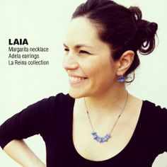 LAIA / Margarita necklace, Adela earrings, La Reina collection #amaliaaround
