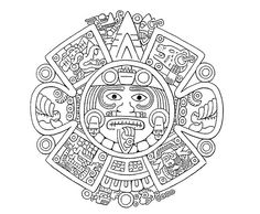 Mayan Number System Coloring Page