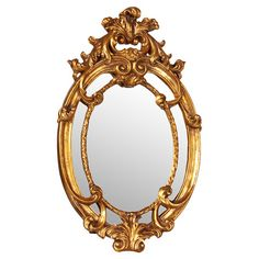 Lend a touch of regal appeal to your living room or master suite with this eye-catching wall mirror, showcasing a Baroque-inspired design and gold leaf finis...