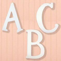 """9"""" A to Z Paintable Wooden Letters - reg. $11  kohls.com"""