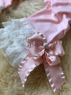 Pink Lace Romper Pink Ruffle Romper Pink Romper Pink and Ruffle Romper, White Romper, Pink Bows, Pink Lace, Baby Dress, Pink Dress, Gucci Baby, Romper Outfit, Chiffon Flowers