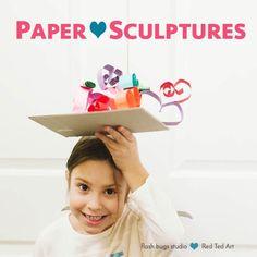 Paper Heart Sculptur