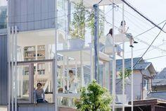 無私分享家的美麗,以樹為概念的穿透住宅。 via 建築師藤本壯介