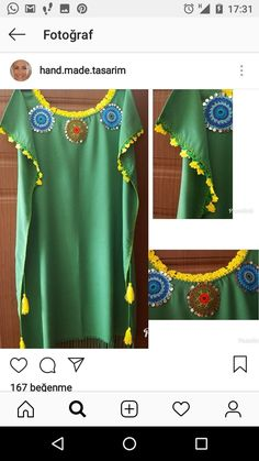 Pull Crochet, Crochet Fabric, Crochet Blouse, Knit Crochet, Sewing Patterns Free, Free Pattern, Kaftan Designs, Techniques Couture, Patchwork Dress