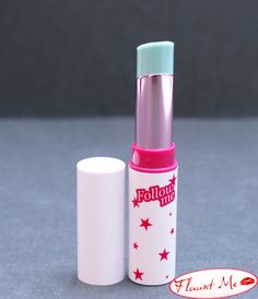 Blue lipstick is actually a color-changing lip tint that starts off pale pink and can turn bright fuschia!
