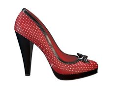 Minnie Mouse Heels! Check out my shoe design via @Shoes of Prey - http://www.shoesofprey.com/shoe/2TE4Y