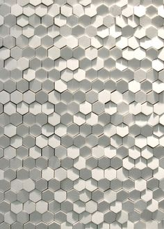 "Tokujin Yoshioka has produced a new tile system for Italian ceramics manufacturer Mutina. The Phenomenon collection comprises of ""snow,"" ""honey-comb,"" and ""rain,"" each based on the irregular textures found in nature. According to Tokujin, he intended to ""create a design which stirs one's heart and imagination...integrating small substances and producing..."