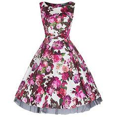 Pretty Kitty Fashion Cream Red Rose Bow Front Floral Print Cotton 50s Dress (6XL) Pretty Kitty Fashion http://www.amazon.co.uk/dp/B00YQBAQX0/ref=cm_sw_r_pi_dp_gV7Rwb0W93KDY