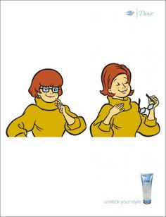 """""""VELMA DINKLEY"""" Print Ad for Dove Volume Hairspray by Ogilvy & Mather"""