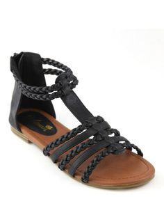 This Black Sofia Gladiator Sandal by Anna Shoes is perfect! #zulilyfinds