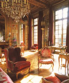 """Paris Hôtel Lambert Drawing Room, of the late """"Alexis von Rosenberg"""" aka Baron de Redé. 1922-2004. Hôtel Lambert was being restored by Alberto Pinto for a member of the royal family of Qatar."""