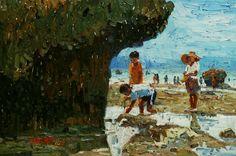 """Beach combers"" -  Fred GALAN"