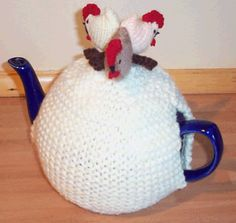 Country Chickens Novelty Tea Cosy and Egg Cosy Knitting Pattern | Suie Roberts