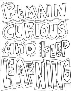 Free and printable quote coloring pages, perfect for the classroom. Bring some inspiration to your school Enjoy! Make your world more colorful with free printable coloring pages from italks. Our free coloring pages for adults and kids. Math Quotes, Classroom Quotes, Learning Quotes, New Quotes, Quotes For Kids, Education Quotes, Inspirational Quotes, Kids Poems, Teamwork Quotes