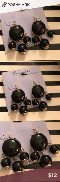 Periwinkle by Barlow Earrings New with tag Periwinkle by Barlow Earrings New with tag. Dangling pierced earrings. Gold tone with black resin beads. For additional information please ask questions. Periwinkle by Barlow Jewelry Earrings
