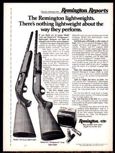 1976 REMINGTON Model 1100 & 870 Wingmaster 20 ga. Lightweight Shotgun AD #Remington