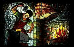 """""""The Blacksmith"""" stained glass"""