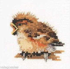 Valerie Pfeiffer Counted crossstitch  Sparrow