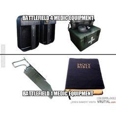 La función de sanitario será más divertida #Medic #Battlefield1 #sinpenicilinaloquenosvamosareír #salvaralsoldado #humor #vrutal #memondo by vrutalgames