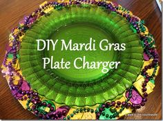A Walk in the Countryside: DIY Mardi Gras Plate Chargers