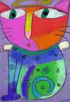 One Crayola Short: Laurel Burch Cats