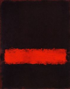 color block, black, red, Mark Rothko This piece is a black background with an off center red stripe. My favorite Rothko piece Willem De Kooning, Jackson Pollock, Mark Rothko Paintings, Rothko Art, Art Paintings, Painting Art, Black Painting, Abstract Painters, Abstract Art