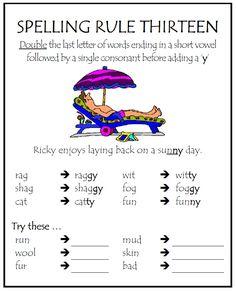 Spelling Rule #13 | Parkhurst State School