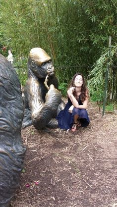 Kindred spirits...Carleigh Wagner and friend  at okc zoo.
