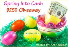 Spring into Cash $250 Giveaway  Enter to win $250 in PayPal Cash or a $250 Amazon Gift Code Sponsor List Thanks to these awesome authors & bloggers for making this giveaway possible! I Am A Reader Coupons and Freebies Mom Dawn Malone, Author Author Inger Iversen Simple Wyrdings Stacking My Book Shelves! My Life. One Story at a Time. Author Laurie Treacy Krysten Lindsay Hager Rockin' Book Reviews Donna Amis Davis Glistering: B's Blog…