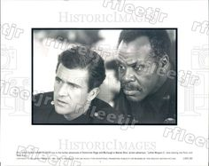 1992 Actors Danny Glover & Mel Gibson in Film Lethal Weapon 3 Press Photo adx799