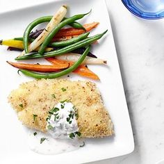 Healthy Baked Fish Recipes, Yogurt Recipes, Cod Recipes, Seafood Recipes, Diet Recipes, Cooking Recipes, Crusted Cod Recipe, Parmesan Crusted Cod, Italian Fish Stew