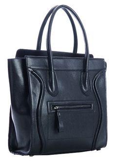 Lana Leather Shoulder Bag Black