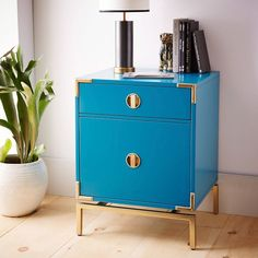 We are obsessed with this Malone Campaign nightstand! Get it now on ShopStyle!