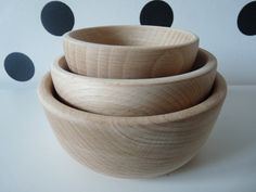 Set of 3 Wooden Nesting Round Bowls- Painting, Decorating , Jewlery Bowl, Unfinished Unpainted Untreated Wood Ring Bowls Wooden bows set Craft Supplies & Tools  wooden bowl  unfinished wood  ring bowl  DIY Wooden Bowl  kids wooden toys nesting wooden bowls  wooden storage  wood for painting  unfinished bowl  decoupage  Scandinavian style round container  minimalist storage