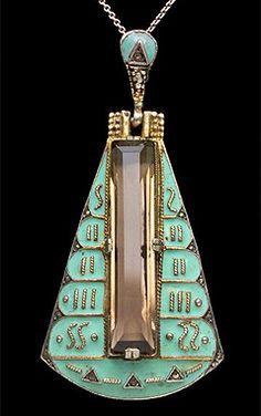 Bijoux Art Deco, Art Nouveau Jewelry, Jewelry Art, Antique Jewelry, Vintage Jewelry, Fine Jewelry, Jewelry Design, Jewellery Box, Art Deco Fashion