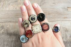 Steampunk Rings  Vintage Clockwork Design  Steampunk by eteniren, $12.30