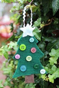 Unusual Christmas tree as an ornament of felt