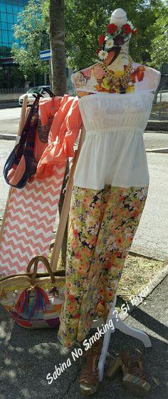 Vestito lungo   colorato stile liberty artigianato italiano fatto a mano da me