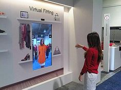 Virtual Fitting at Ces 2013 Interactive Installation, Interactive Design, Tommy Store, Interaktives Museum, Virtual Dressing Room, Digital Retail, Wi Fi, Retail Architecture, Logos Retro