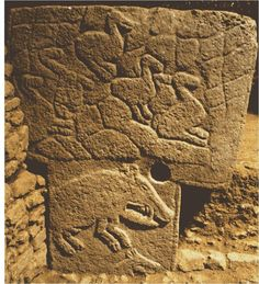 """Gobekli Tepe... largest image I can find of the """"boars"""" monolith..."""