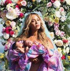 Happy families: Beyonce and Jay Z welcomed twins in June and her mom described them as 'ad...
