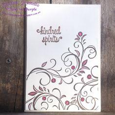Falling Flowers : First Sight : Stampin' Up : Sandra Mastello :Violet vs Purple