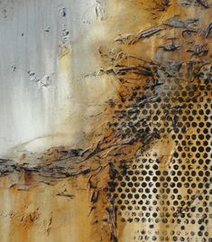 The bubble wrap make bees' honey comb. Hand Embellished, Textural, Abstract Painting. Giclee on Canvas. by ELOISE WORLD…