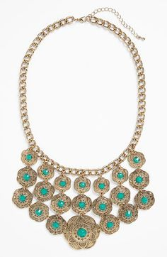 BP. Stone Filigree Statement Necklace (Juniors) available at #Nordstrom