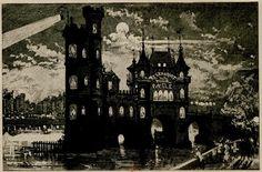 Albert Robida, NLe restaurant de la tour de Nesle, 1883, etching