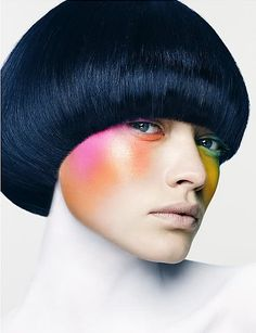 beauty story 1.  Don't know whether to put this in makeup or short hair styles.  Love both.